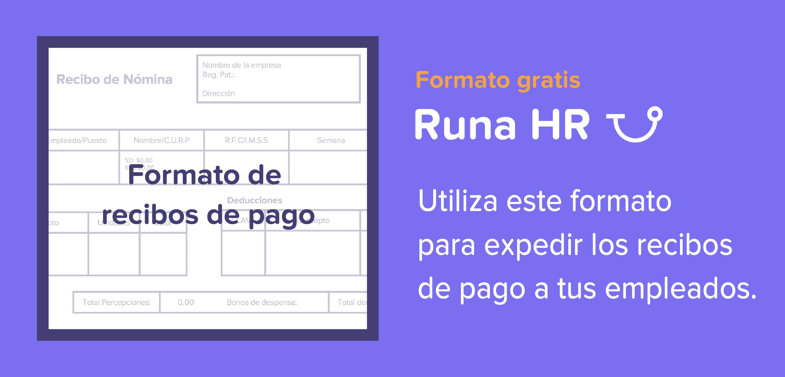 Runa hr descarga tu formato de recibo de n mina Formato para pago de nomina